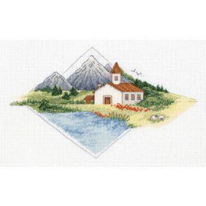 Набор для вышивания KLART «Дом в горах»