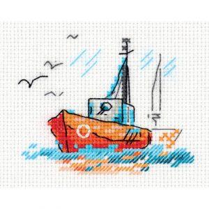 Набор для вышивания KLART «Зарисовки. На волнах»