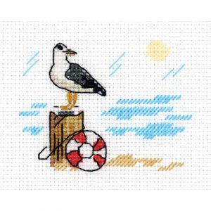 Набор для вышивания KLART «Зарисовки. Чайка»