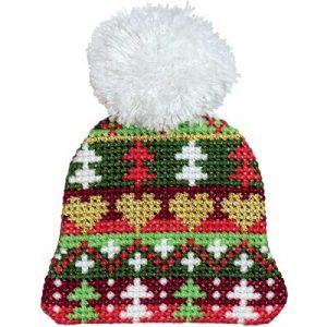 Набор для вышивания KLART «Шапочка с сердечками»