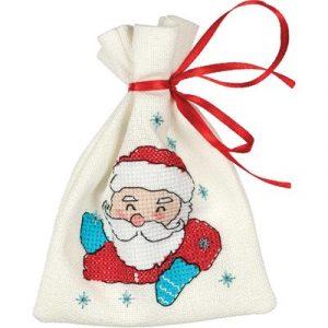 Набор для вышивания KLART «Мешочек с Дедом Морозом»