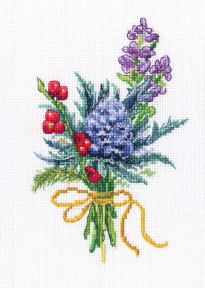 Набор для вышивки крестом RTO «Лесные бутоньерки 4»