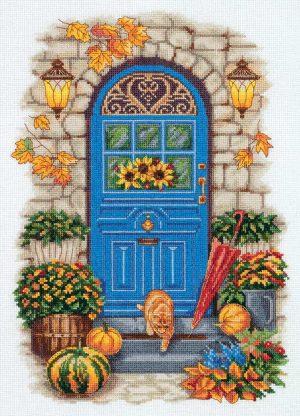 Набор для вышивки крестом PANNA «Осень на пороге»