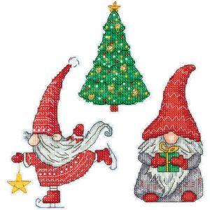 Набор для вышивки крестом PANNA «Новогодние гномики»