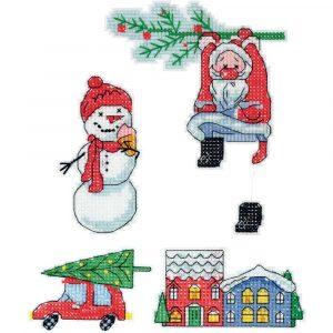 Набор для вышивки крестом PANNA «Скоро Новый год»