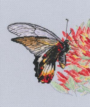 Набор для вышивки крестом RTO «Нектар для бабочки»