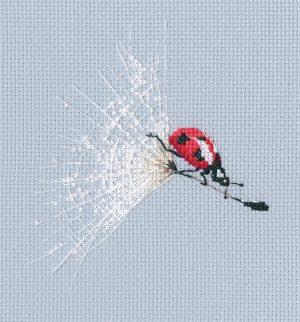 Набор для вышивки крестом RTO «На парашюте одуванчика»