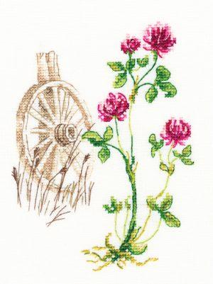 Набор для вышивки крестом RTO «Цветущие травы 2»