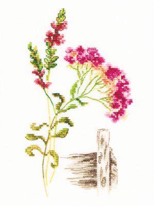 Набор для вышивки крестом RTO «Цветущие травы 3»