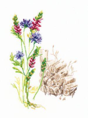 Набор для вышивки крестом RTO «Цветущие травы 4»