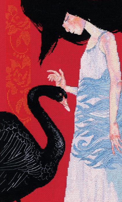 Набор для вышивки крестом RTO «Черный лебедь»