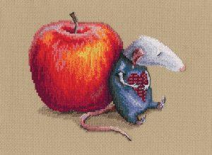 Набор для вышивки крестом RTO «Влюбился мышь однажды»