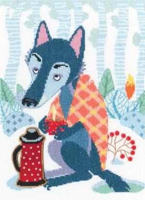 Набор для вышивки крестом RTO «Волки и ёлки»