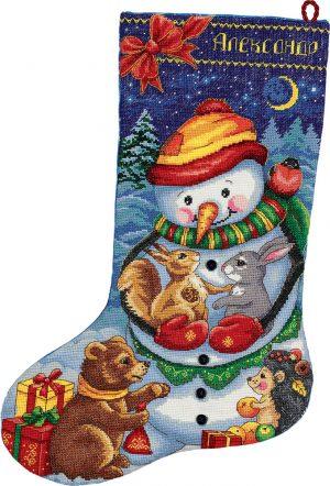 Набор для вышивания PANNA «Сапожок со снеговиком»