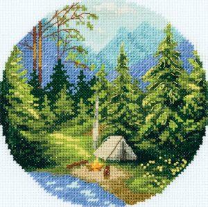 Набор для вышивки крестом PANNA «Утро в лесу»