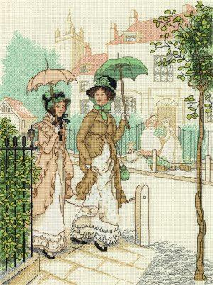 Набор для вышивания PANNA «Дамы на прогулке»