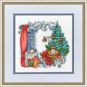 Набор для вышивки крестом Золотое Руно «Зима на проводе»