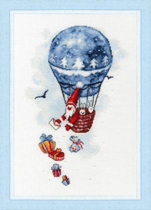 Набор для вышивки крестом Золотое Руно «Воздушный шар»