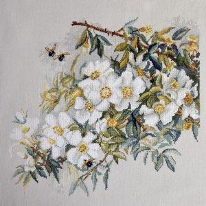 Набор для вышивания Марья Искусница «Белый шиповник»