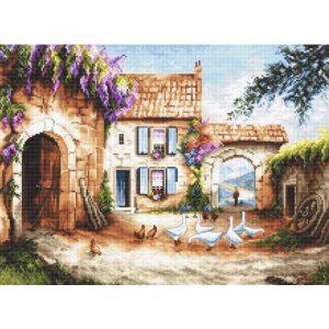 Набор для вышивки крестом Letistitch «Village» Деревня