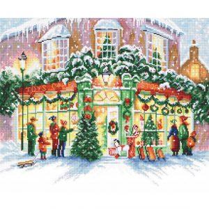 Набор для вышивки крестом Letistitch «Christmas Shop» Рождественский магазин