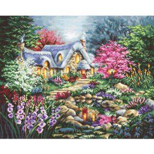 Набор для вышивки крестом Letistitch «Cottage Pond» Пруд у дома