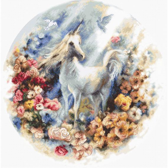 Набор для вышивки крестом Letistitch «Unicorn» Единорог ...