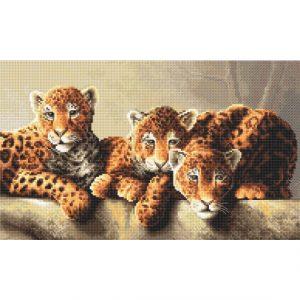 Набор для вышивки крестом Letistitch «Leopards» Леопарды