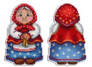 Набор для вышивания на пластиковой канве ЖАР-ПТИЦА «Бабушка»