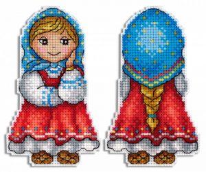 Набор для вышивания на пластиковой канве ЖАР-ПТИЦА «Внучка Машенька»