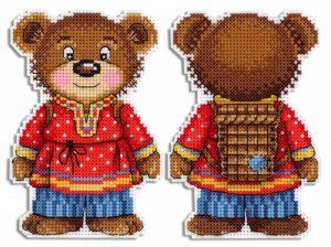 Набор для вышивания на пластиковой канве ЖАР-ПТИЦА «Косолапый медведь»