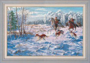 Набор для вышивания Овен «Зимняя охота»