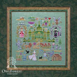 Набор для вышивания OwlForest «Изумрудный город»