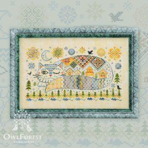 Набор для вышивания OwlForest «Кот Баюн»