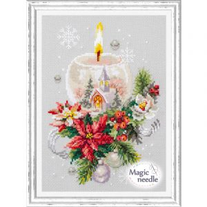 Набор для вышивания Чудесная игла «Рождественская свеча»
