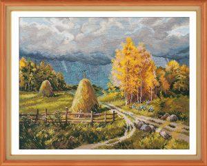 Набор для вышивания Овен «Осенняя гроза»