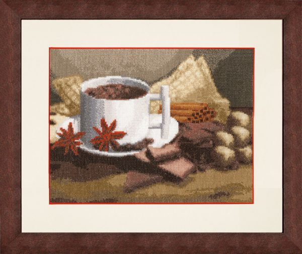 Набор для вышивки крестом Золотое Руно «Горячий шоколад»