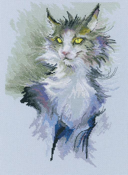 Набор для вышивки крестом RTO «Не стоит гладить кошку против шерсти»