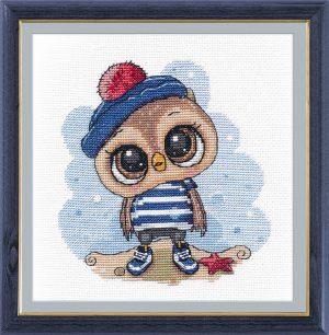 Набор для вышивания Овен «Совенок-морячок»