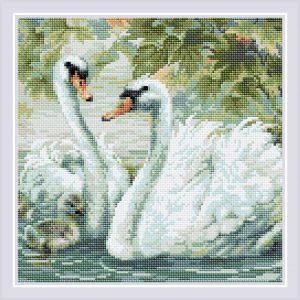 Алмазная мозаика Риолис «Белые лебеди»