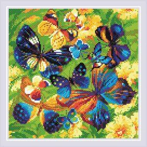 Алмазная мозаика Риолис «Яркие бабочки»