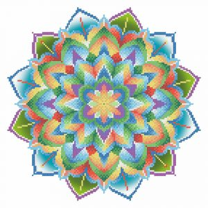 Рисунок на габардине для вышивания бисером М.П. Студия «Мандала»