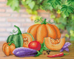 Рисунок на габардине для вышивания бисером М.П. Студия «Овощной натюрморт»
