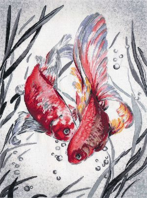 Набор для вышивания Овен «Золотые рыбки»