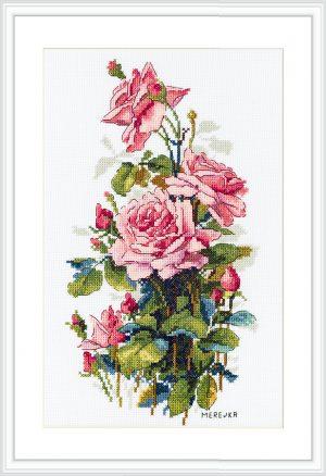 Набор для вышивания Мережка «Розовые розы»
