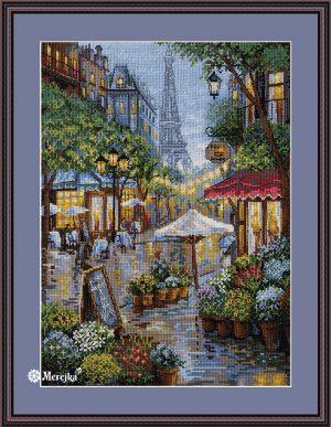 Набор для вышивания Мережка «Дождливый Париж»
