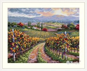 Набор для вышивания Мережка «Виноградники Тосканы»