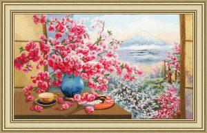 Набор для вышивания Золотое Руно «Букет сакуры»