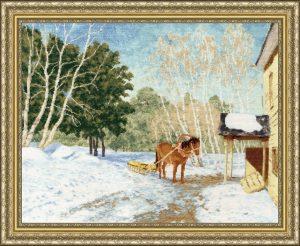 Набор для вышивания Золотое Руно «Март, 1895 г.» по мотивам картины И. Левитана