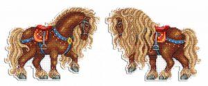 Набор для вышивания Жар-Птица «Богатырский конь»